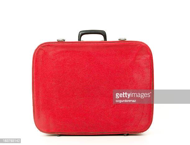 Old fashioned red suitcase