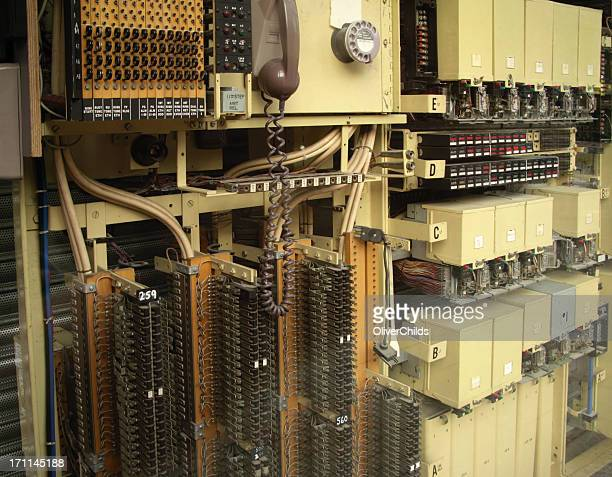 Old fashioned telephone exchange.