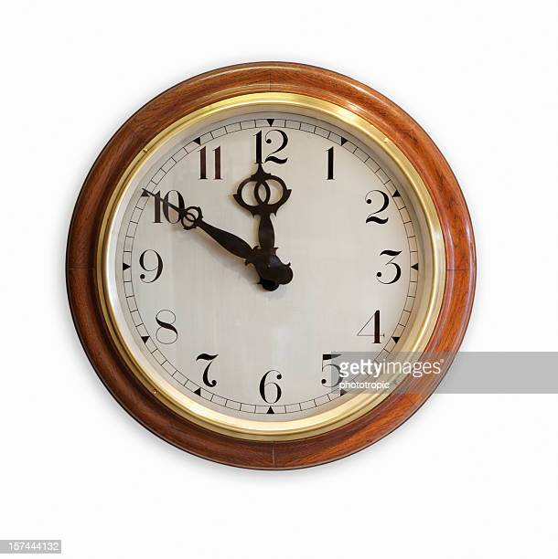 old fashioned wall clock - wall clock stock photos and pictures