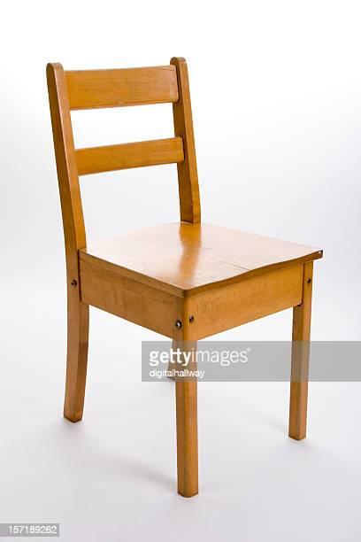 Old fashioned wood school chair