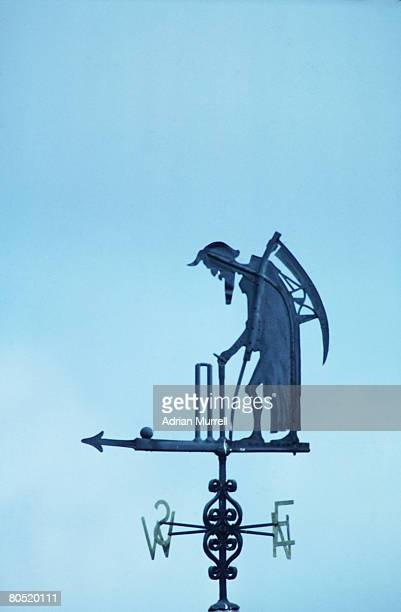 Old Father Time adorns the weathervane at Lord's Cricket Ground in London July 1981