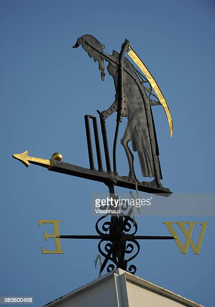 'Old Father Time' weather vane during Day Four of the 2nd Investec Ashes Test between England and Australia at Lord's Cricket Ground in London UK...