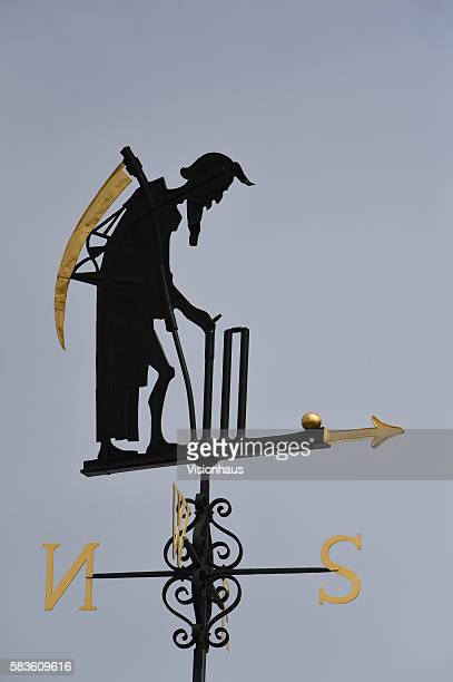 Old Father Time weathervane during the third day of the 2nd Investec Ashes Test between England and Australia at Lord's Cricket Ground London United...