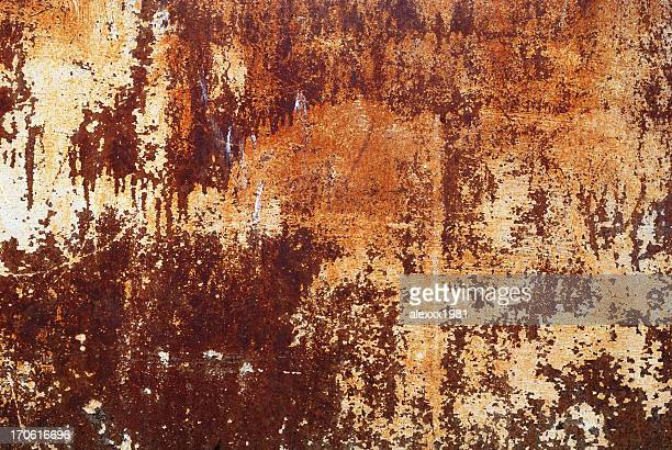 old ferruginous sheet of iron - rusty stock pictures, royalty-free photos & images