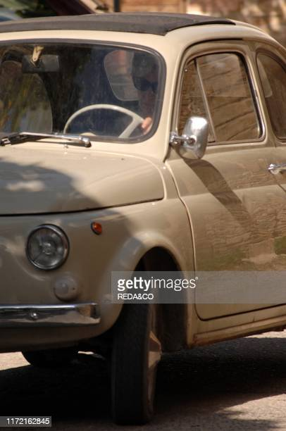 Old Fiat 500, Montefalco, Umbria, Italy, Europe.