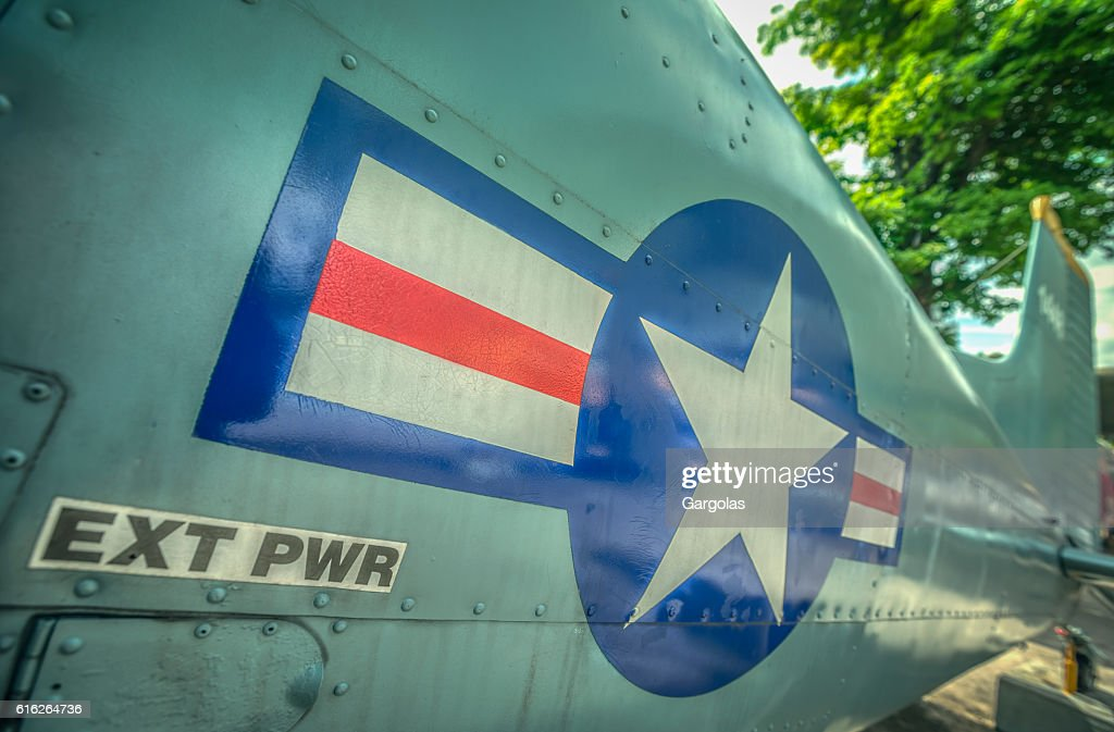Old fighter plane : Stock Photo