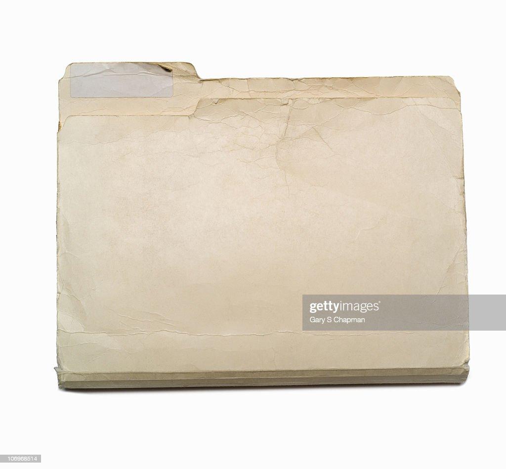 Old file folder : Stock Photo