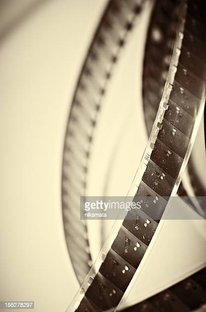 Old Film perforated celluloid