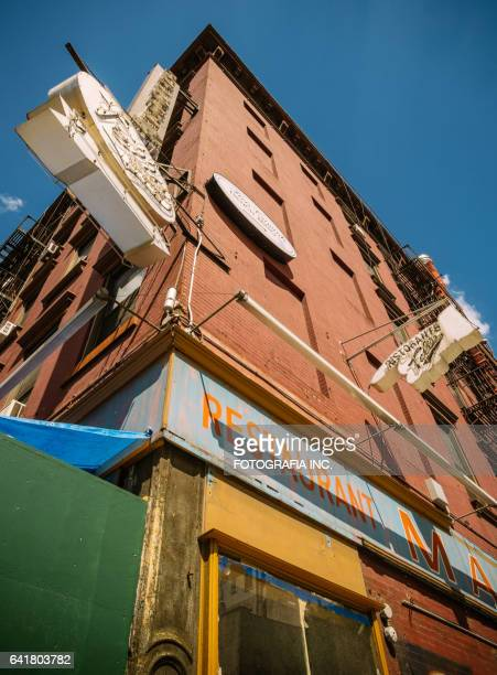 old fish market and restaurant exterior in chelsea - business closing stock photos and pictures