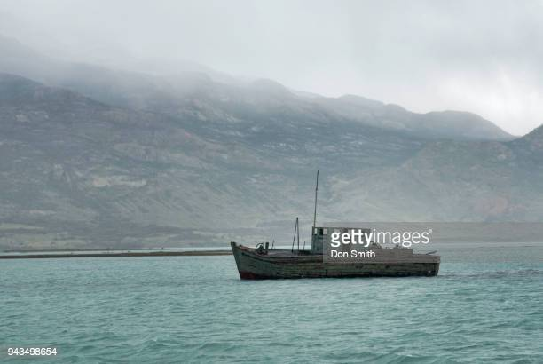 old fishing boat - don smith stock photos and pictures