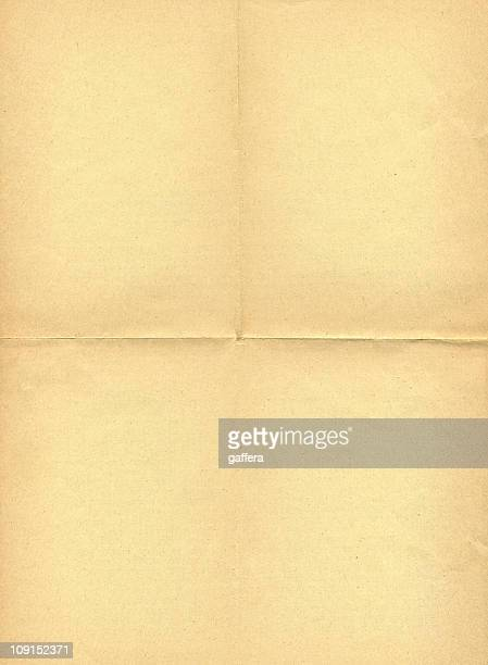 old folded paper