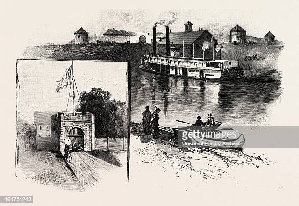 Old Fort Garry Canada Nineteenth Century Engraving