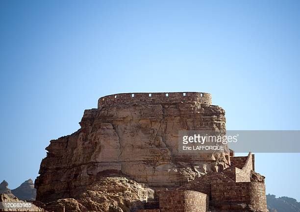 Old fort in Al Ula Saudi Arabia on January 18 2010 AlUla town is located in the northwestern part of the Kingdom of Saudi Arabia between AlMadina and...