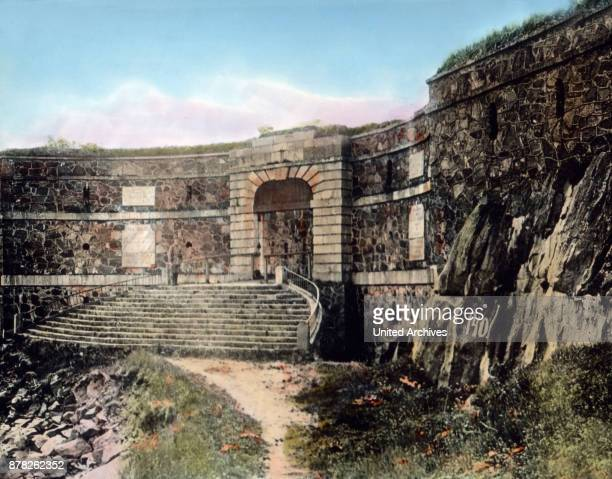 Old fortifications at Suomenlinna Finland 1920s