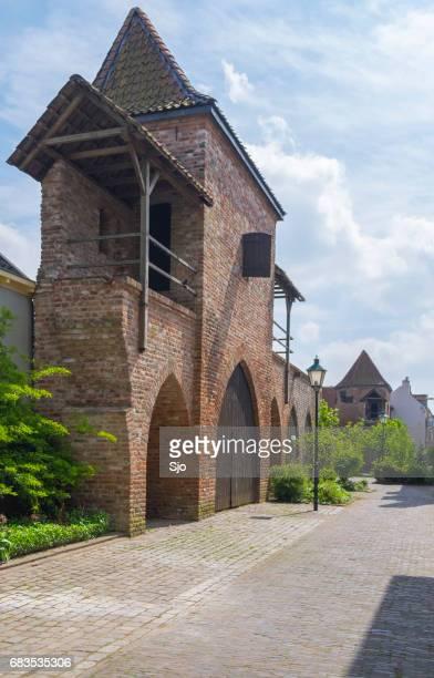Old fortified city wall in Zutphen in Gelderland, The Netherlands