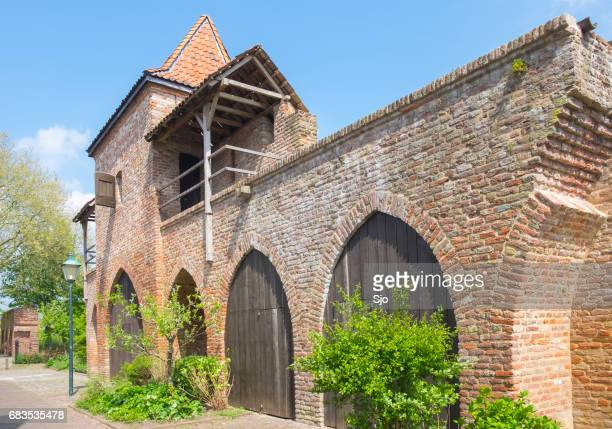 "old fortified city wall in zutphen in gelderland, the netherlands - ""sjoerd van der wal"" or ""sjo"" stock pictures, royalty-free photos & images"