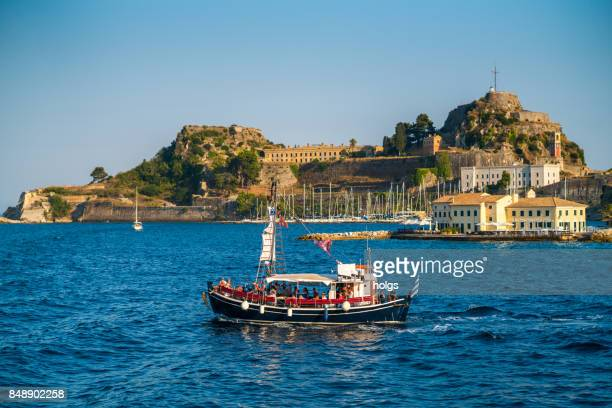 Old Fortress and the Bay of Garitsa Corfu, Greece