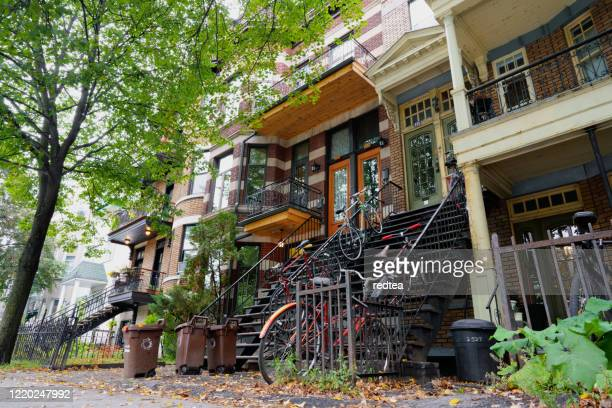 old french canadian style apartment in montreal - french culture stock pictures, royalty-free photos & images