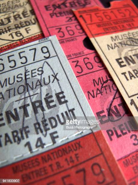 Old french entrance tickets