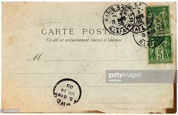 Vieux français de cartes postales de Paris en 1900 publié