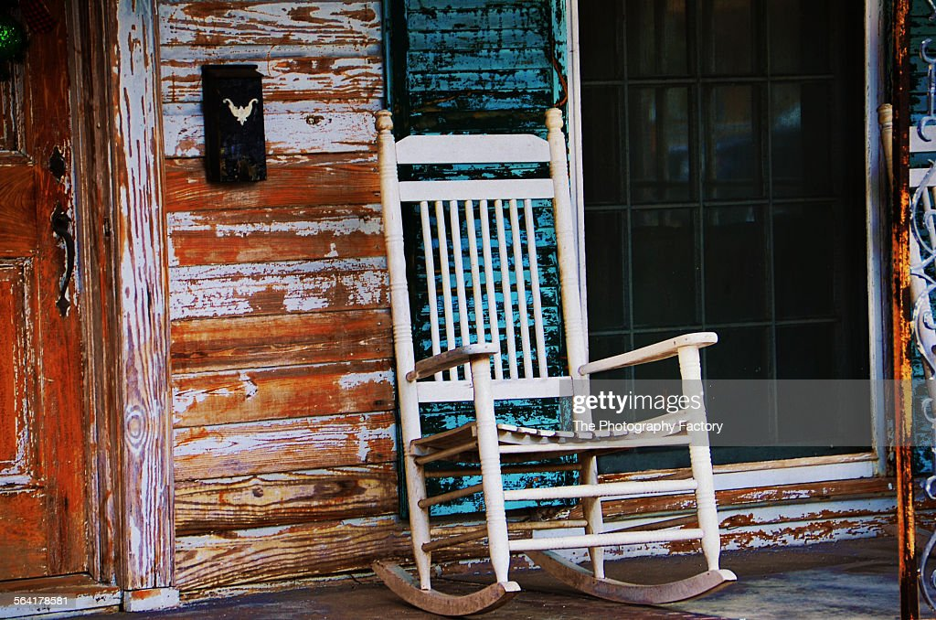 Old Front Porch And Rocking Chair
