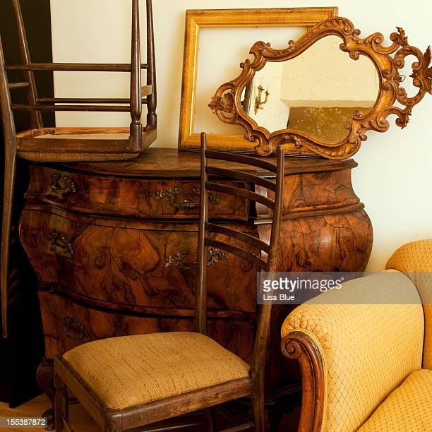 Old Furniture in Antique Shop