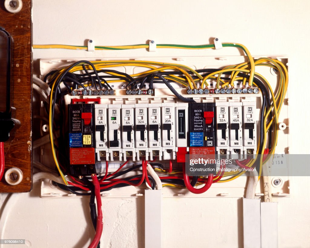 Old Fuse Box Detailed Schematics Diagram Upgrade 100 Amp To Circuit Breakers Stock Photos And Pictures Getty Images Wiring