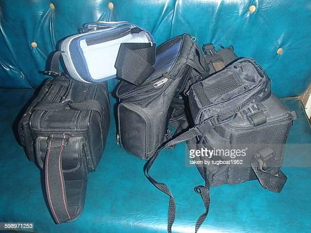 Old generic camera bags