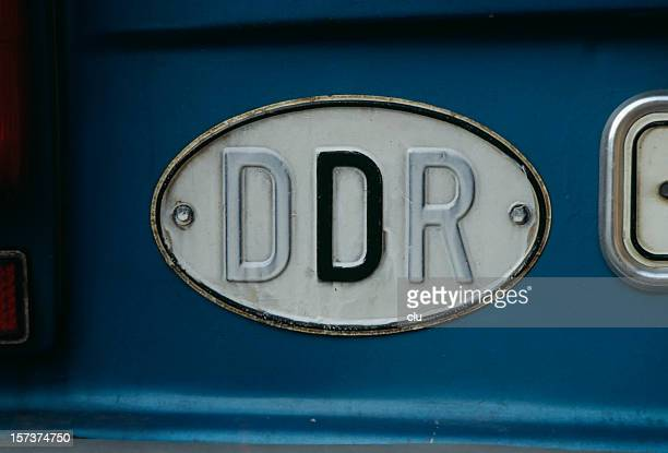 old german democratic republic  car sign - east germany stock pictures, royalty-free photos & images