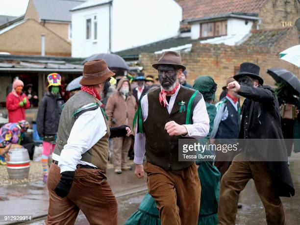 Old Glory Molly performing at A Day of Dance the largest annual gathering of Molly dancers in the UK in Little Downham on 27th January 2018 Molly...