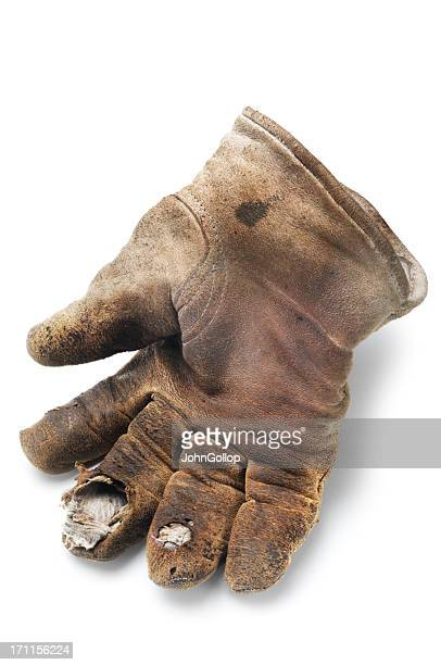 old glove - work glove stock pictures, royalty-free photos & images