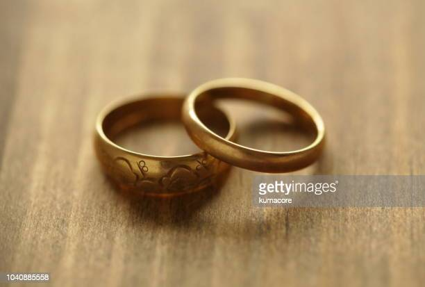 Old gold rings,close up