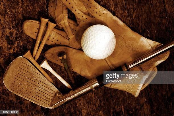 old golf days - golfclub stockfoto's en -beelden