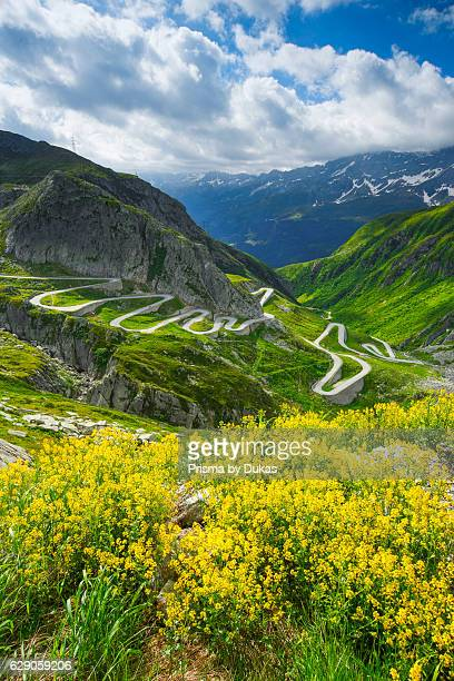 Old Gotthard mountain pass Switzerland