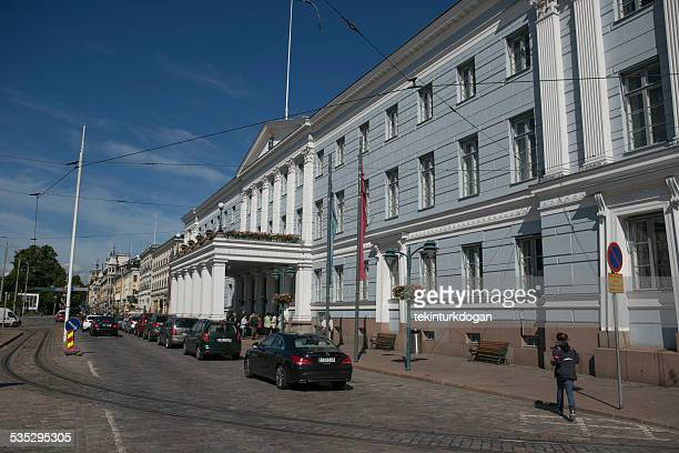 Old government buildings are located at  streets of helsinki finland