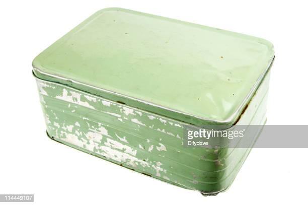 Old Green Aluminium Boîte déjeuner