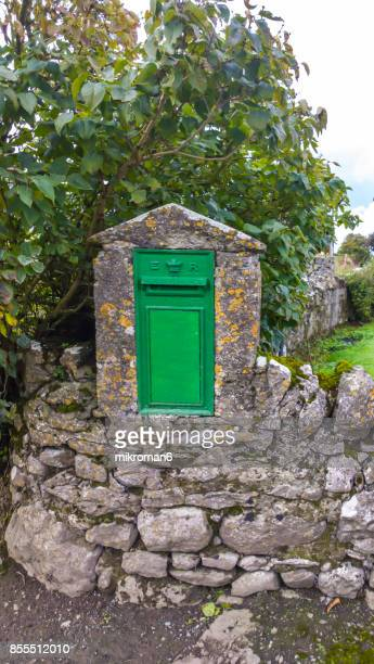 Old Green postbox in rural Ireland