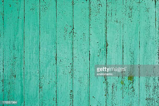Old green wooden board background.