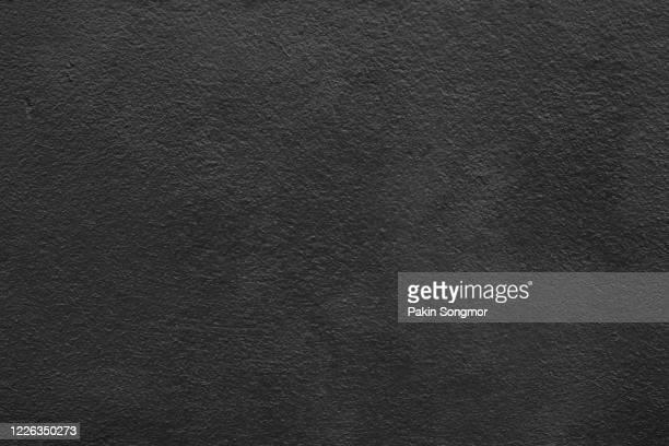 old grunge black wall texture background. - color negro fotografías e imágenes de stock