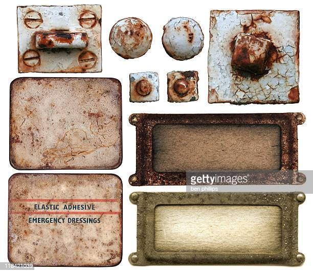 old grunge elements - rusty stock pictures, royalty-free photos & images