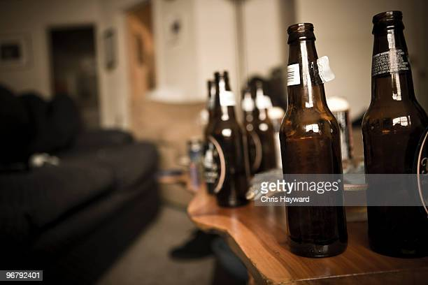old habits - binge drinking stock photos and pictures