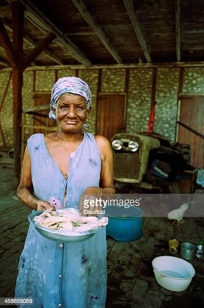 Old haitian lady