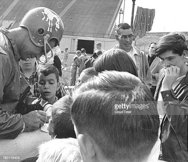 OCT 1 1966 OCT 2 1966 Old Hand Pleases Young Grid Players The Newest Denver Bronco Player quarterback Tobin Rate was one of the busiest Saturday...