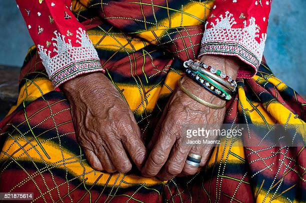 Old hands of B'laan women with traditional dress
