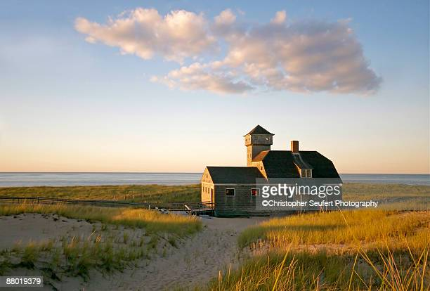 old harbor lifesaving station at provincetown - massachusetts stock pictures, royalty-free photos & images