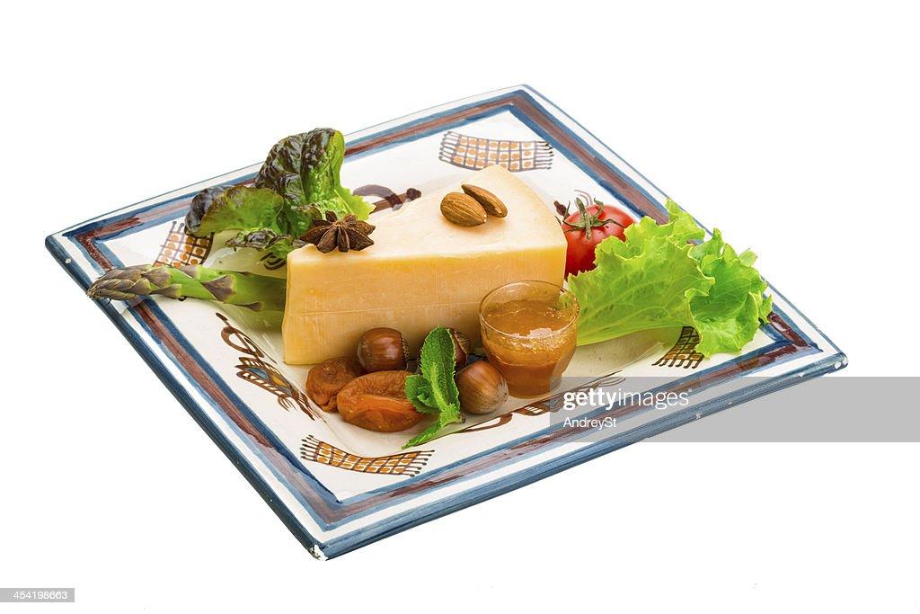 Old queso duro : Foto de stock