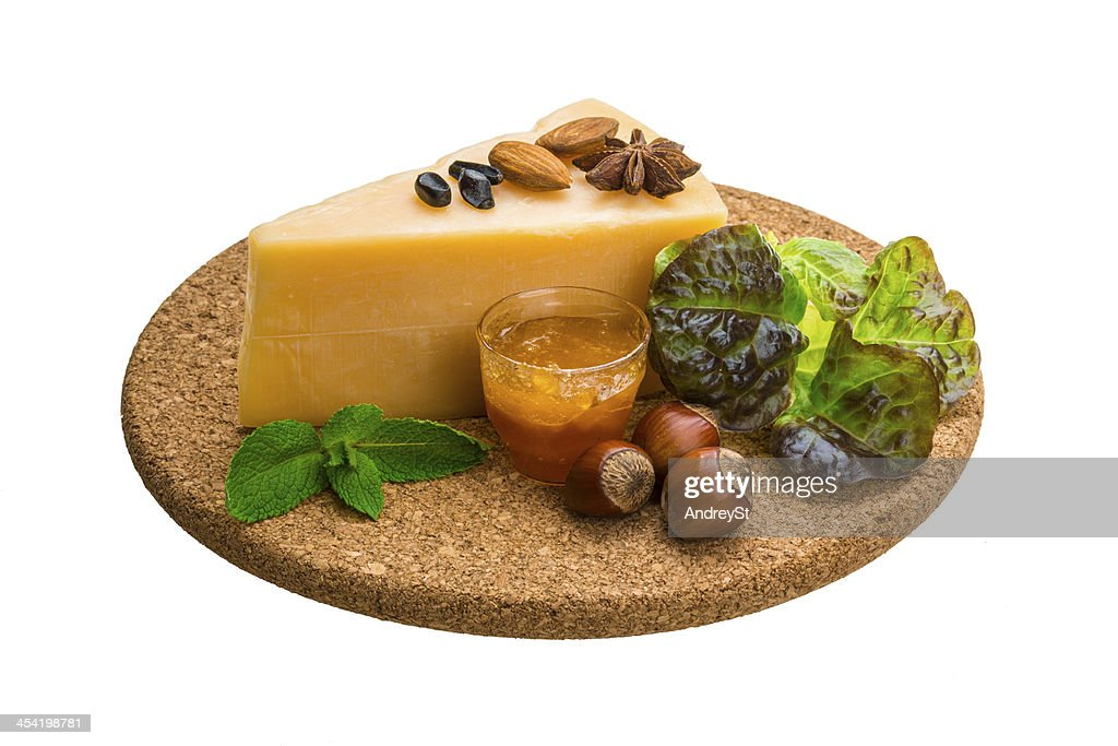 Old hard cheese : Stock Photo