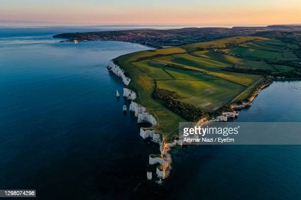 old harry rocks - landscape scenery stock pictures, royalty-free photos & images
