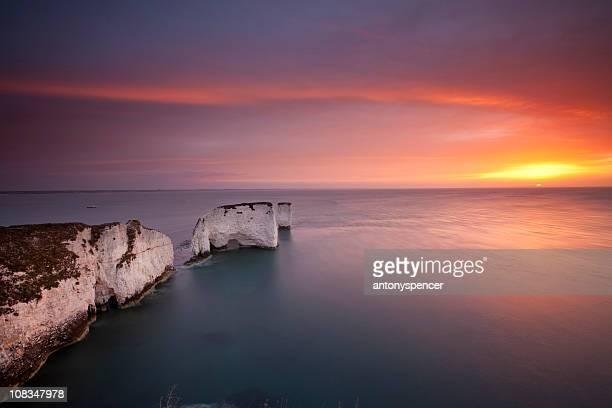 旧ハリーロック、日の出ます。 - プール湾 ストックフォトと画像