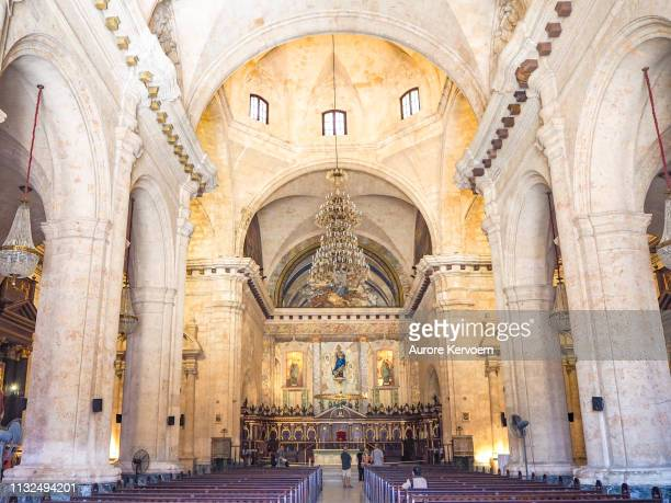 cathedrale velho de havana, cuba - catedral - fotografias e filmes do acervo